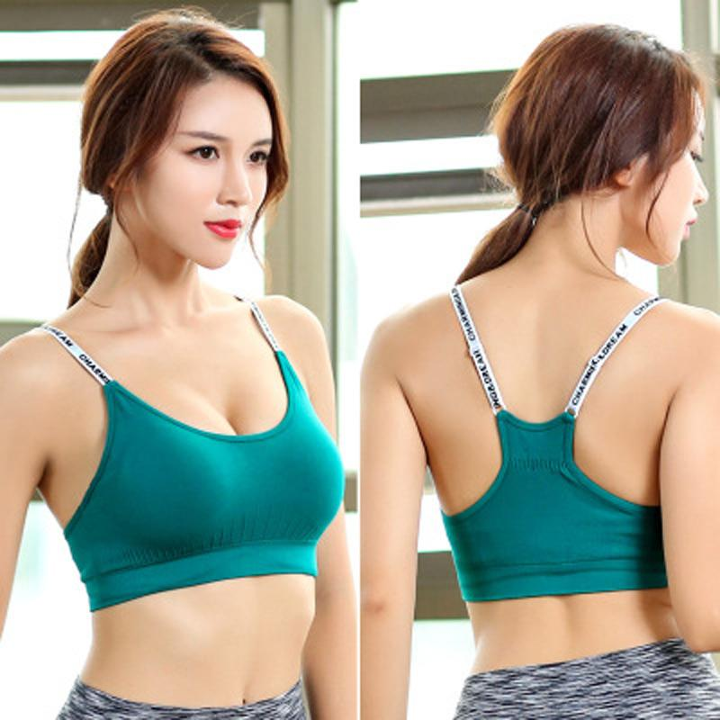 ae757626a6 2019 Adjustable Yoga Top Sports Bra Top Female Women Push Up 2018 For  Fitness Athletic Gym Workout Sport Brassiere Underwear From Ahaheng