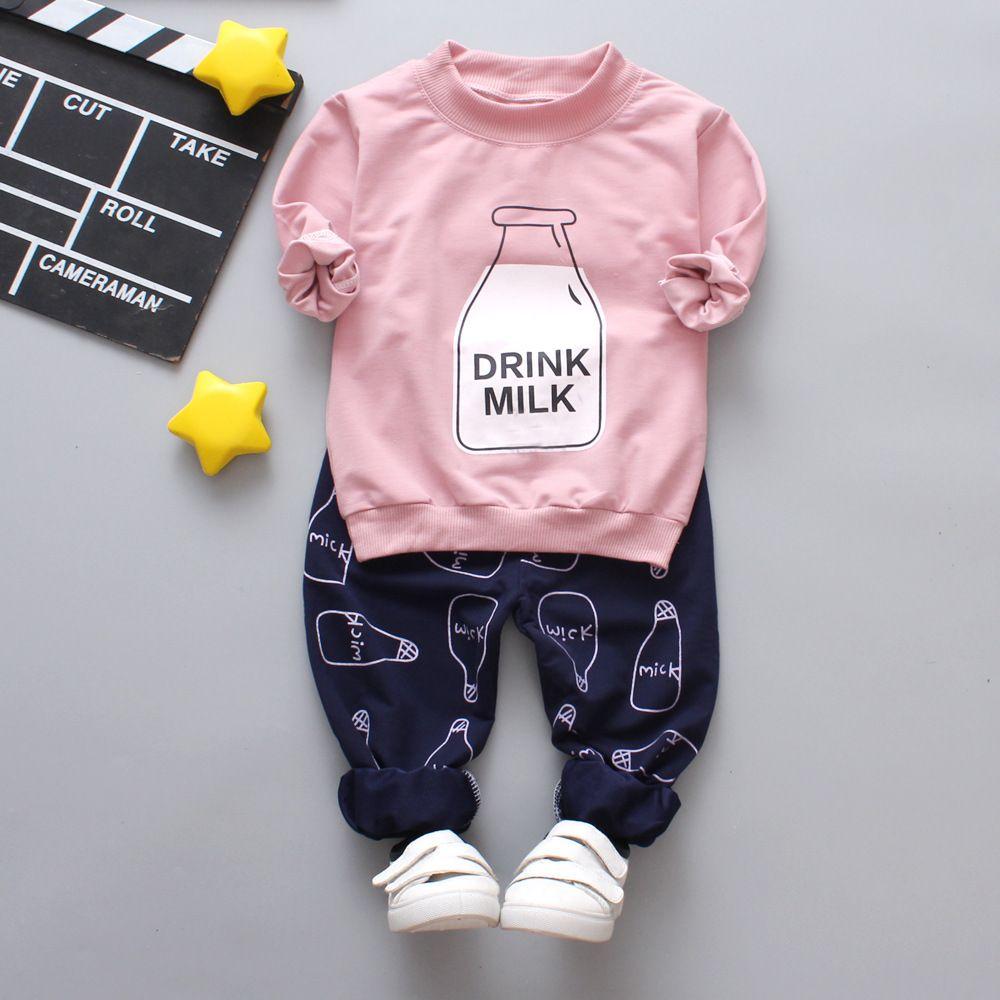 0fd49600f 2019 New Autumn Kids Clothing Cotton Cute Long Sleeve Fleece   Pant ...