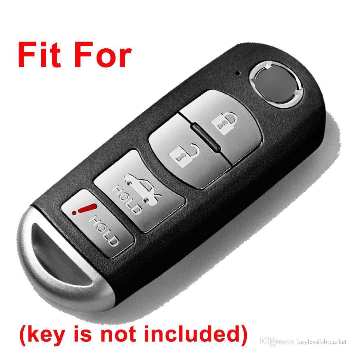 Silicone Smart Key Fob Cover Case Protector Shell for 2017 2018 Mazda CX-5 CX-7 CX-9 MX-5 Miata Mazda 3 6 Smart key Remote 4 Buttons