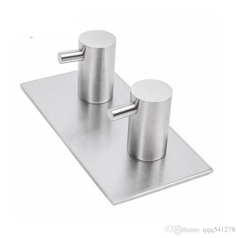 3m adesivo adesivo in acciaio inox ganci appendiabiti da parete cappotto appendiabiti cappello gancio accappatoio cucina bagno arrugginito asciugamano ganci