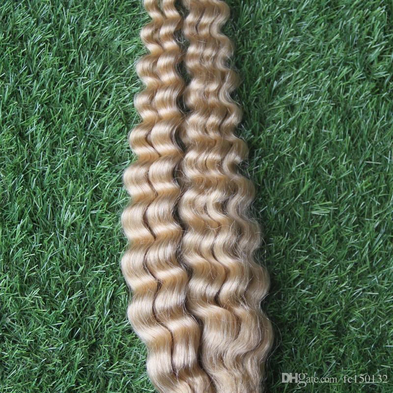 100G # 60 Platina Loira Brasileira Jerry Curl Humano Trança Extensões de Cabelo Sem Trama 10-26 Polegada de cabelo Humano Em Massa 25 cm-65 cm