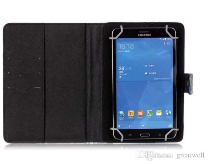 DreamCatcher Owl PU Portefeuille en cuir Flip Stand Cas de protection pour 7inch 8inch Universal Tablet Case pour Samsung Apple Asus Lenovo Tablet