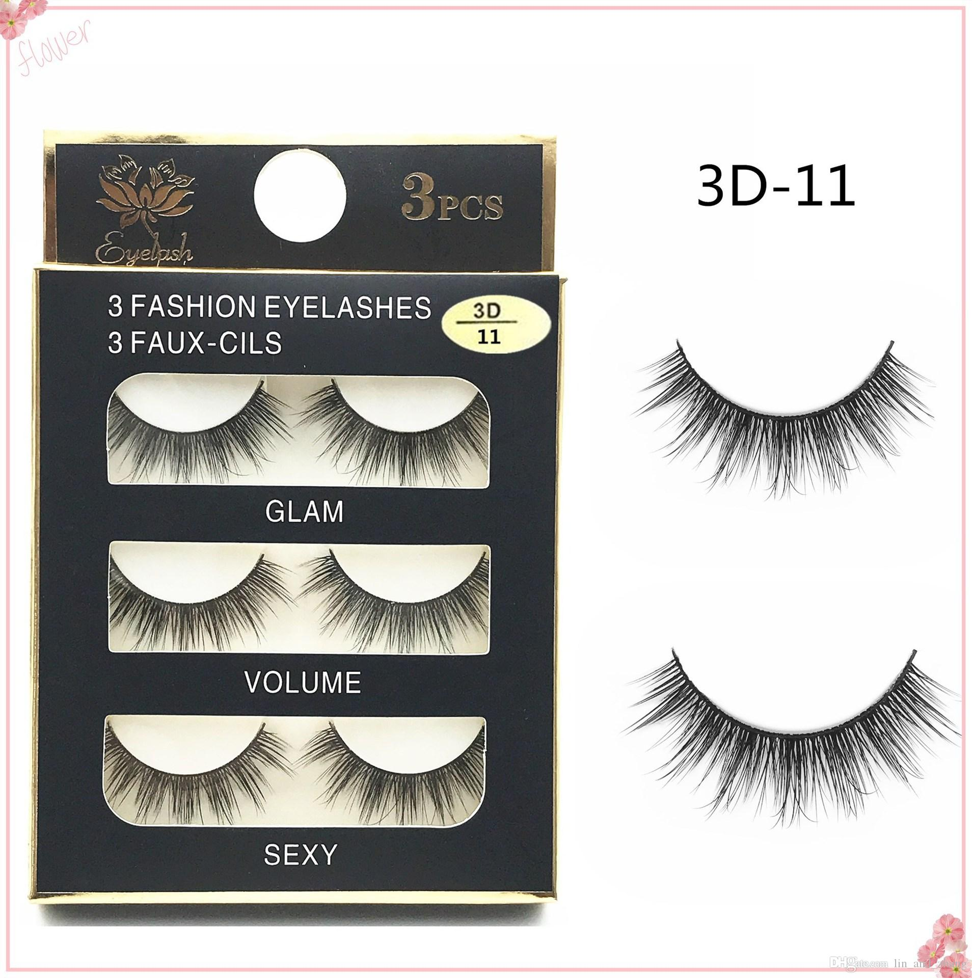 Hot Sale New 3d Natural Cross Thick False Eyelashes Long Makeup 3d