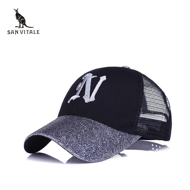 Baseball Cap For Women Hats Girls Caps Hip Hop Streetwear Golf Bone ... b3f87677c656