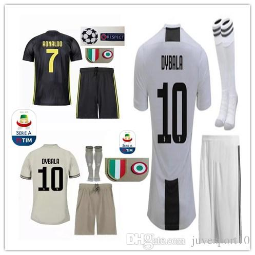15c2496e9fa 2019 18 19 DYBALA RONALDO Soccer Jersey 2018 2019 Adult Kits D.COSTA HIGUAIN  MATUIDI MARCHISIO MANDZUKIC PJANIC CUADRADO Away Men Football Shirt From ...