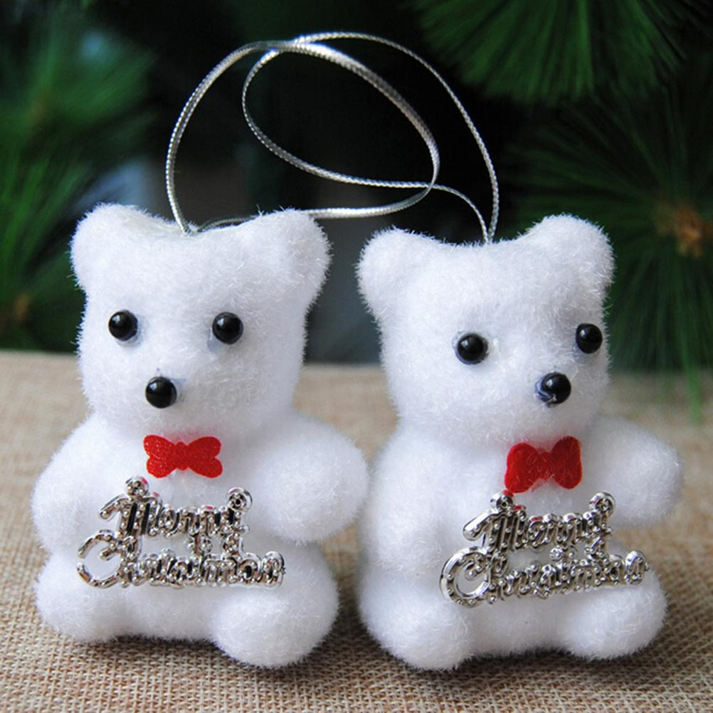 white cute kawaii foam christmas bear christmas deer for tree pendant decoration kids gift home decor bag snowman decorations the best christmas