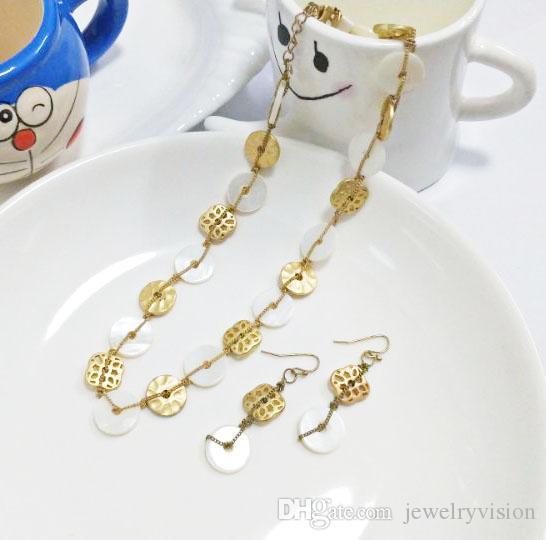 Conjuntos de collar aretes joyería caliente de la manera Sistema de la joyería de la vendimia de las mujeres