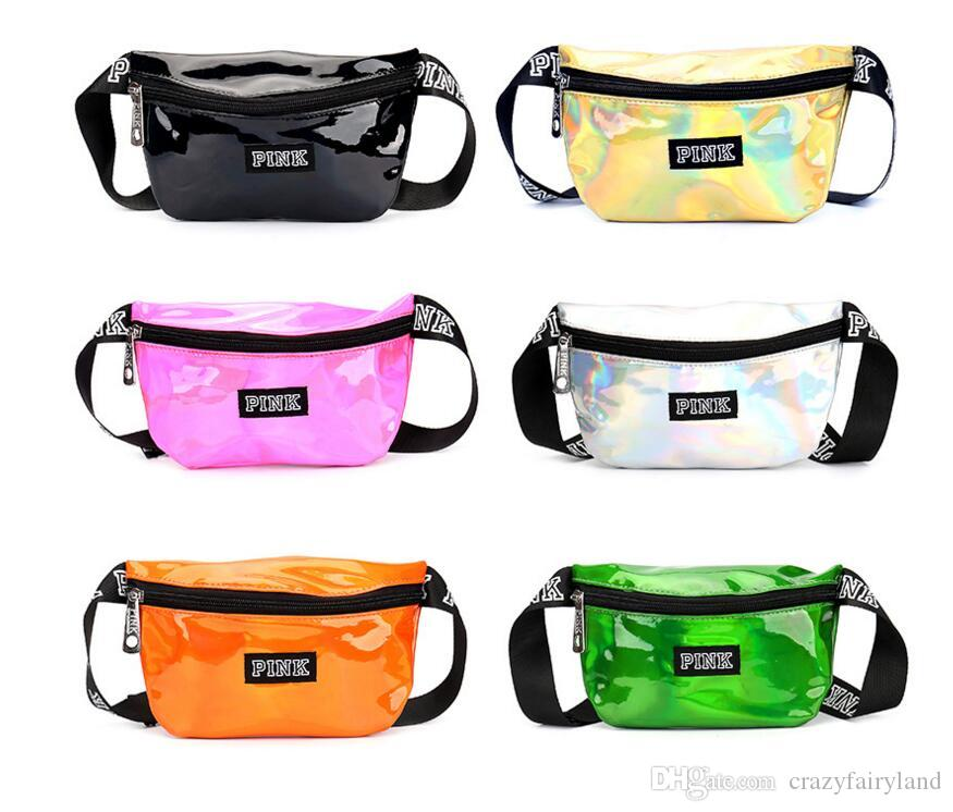 c4d5477a9d Crossbody Shoulder Bag Waist Belt PU Laser Pouch Packs Outdoor ...