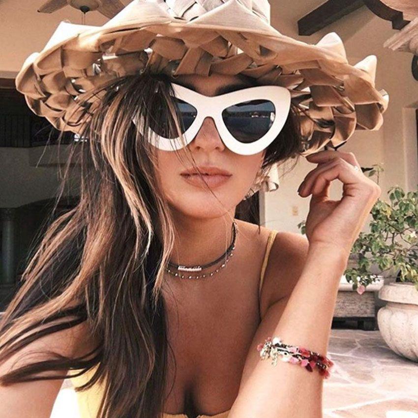 New Big Frame Sunglasses Women Cat Eye Glasses Fashion Brands Woman ...