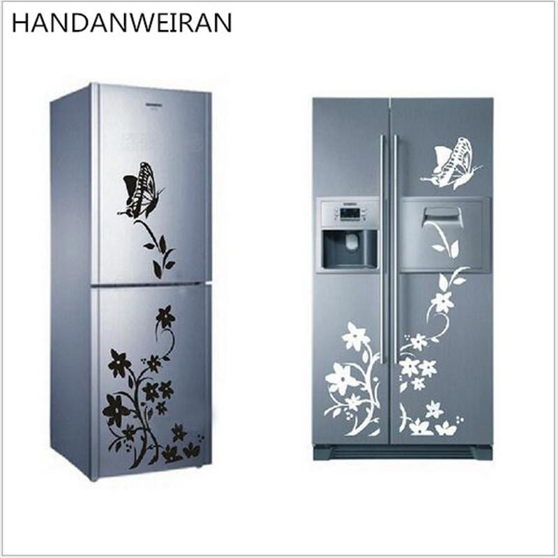 2017 new hot Superior quality butterfly flower vine family decorative wall stickers stickers Home Furnishing Decor refrigerator