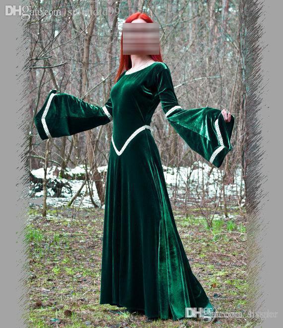 c0872e78e Global Fantasy Vestido Verde Vestido Medieval Fiesta Vestidos Renacentistas  Vestidos Con Trajes Elfos A  126.23 Del Hyghe