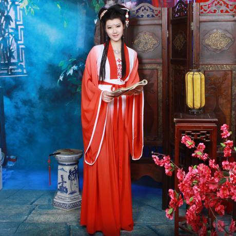 5ef6ab9ad22 Купить Оптом Qifeng Костюм Павильон Костюм Хан Двубортный Юбка Национальной  Одежды Бегония Красный Отmengyinghantang В Категории Другие Свадебные Одежды