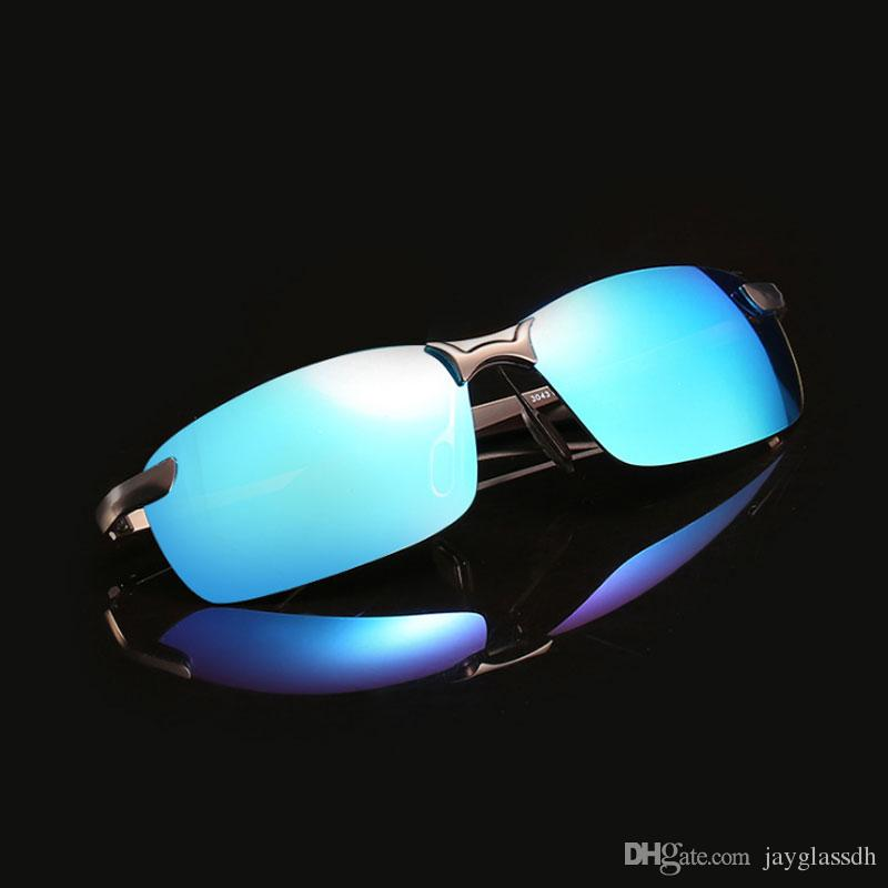 37748c1c94 2018 New Men Polarized Sunglasses Driving Outdoor Sports Rimless Metal Polarized  Bicycle Sunglasses Male Goggle Oculos De Sol Bicycle Sunglasses Sport ...