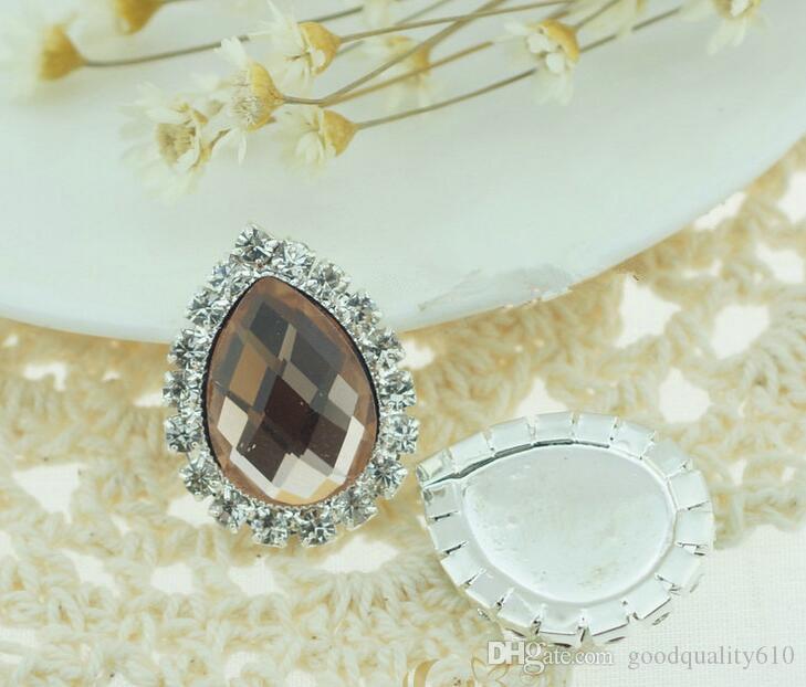 Слеза горный хрусталь Кристалл бусины кнопка Flatback для скрапбукинга ремесло DIY зажим для волос аксессуары