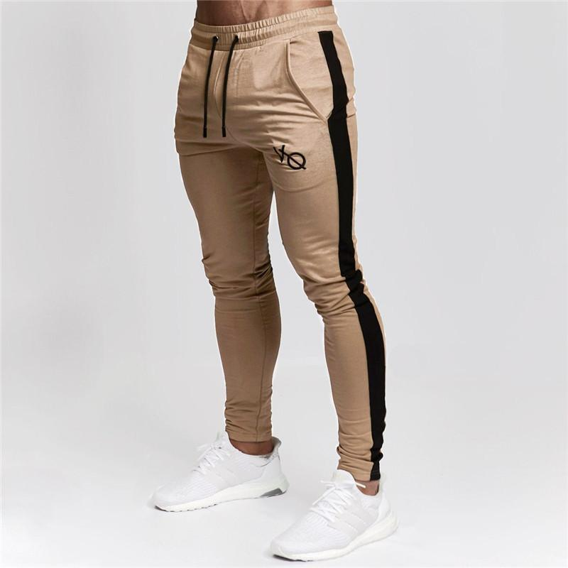 dbd65d0afba579 2019 Mens Joggers Casual Pants Fitness Men Sportswear Tracksuit Bottoms  Skinny Sweatpants Satin Jogger Black Gyms Jogger Track Pants From  Vanilla15, ...