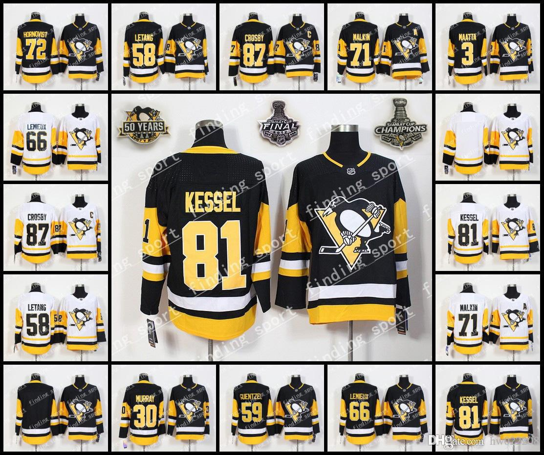 quality design f8fce 729b0 mens pittsburgh penguins 72 patric hornqvist white road 2017 ...