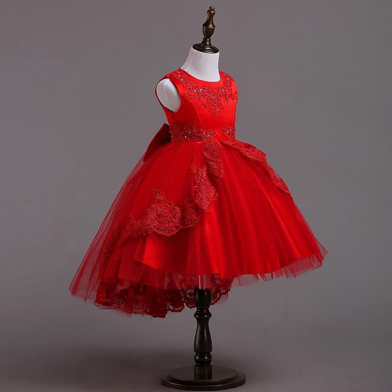 3ca5f707f Compre Vestidos Infantiles Para Niñas Princesa Vestido De Fiesta De Navidad  Para Bodas Ropa De Niña 3 A 12 Años Vestido De Niña Vestido De Niños Ropa A  ...
