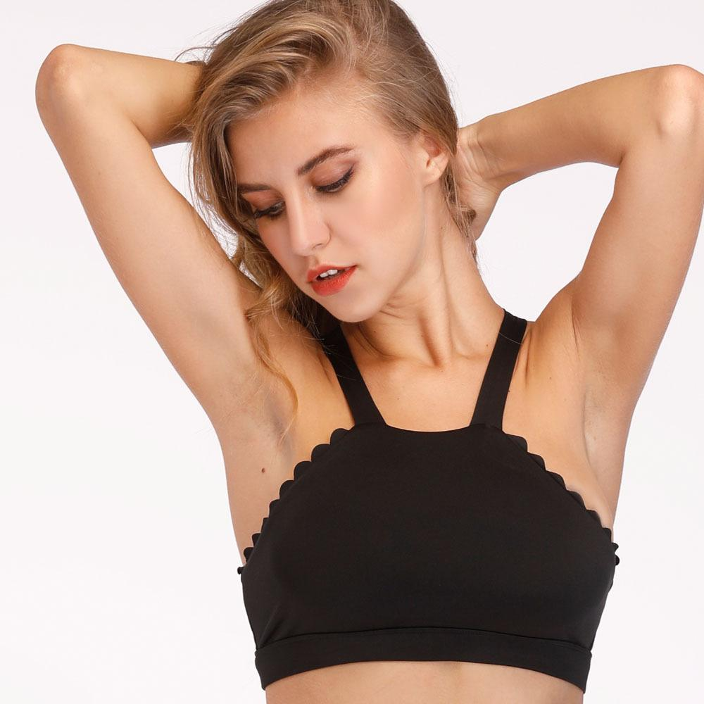 85f75f091c 2019 Sexy Backless Lace Sports Bra Top High Neck Fitness Bras Seamless Gym  Sport Top Padded Yoga Bras Push Up Running Underwear From Ahaheng