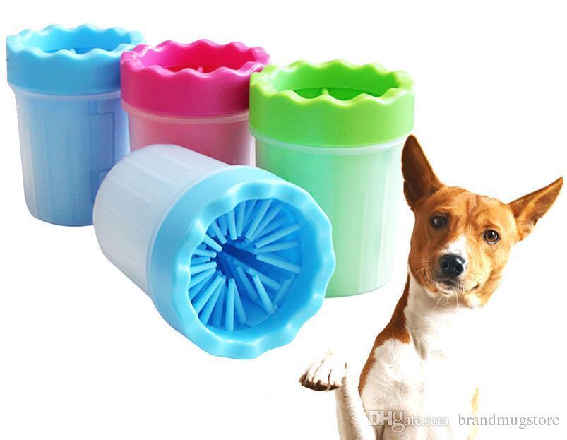 Cão pata de limpeza portátil pet foot washer pet escova de limpeza copo cão pés mais limpo suave escova de silicone para muddy pés tamanho médio pequeno