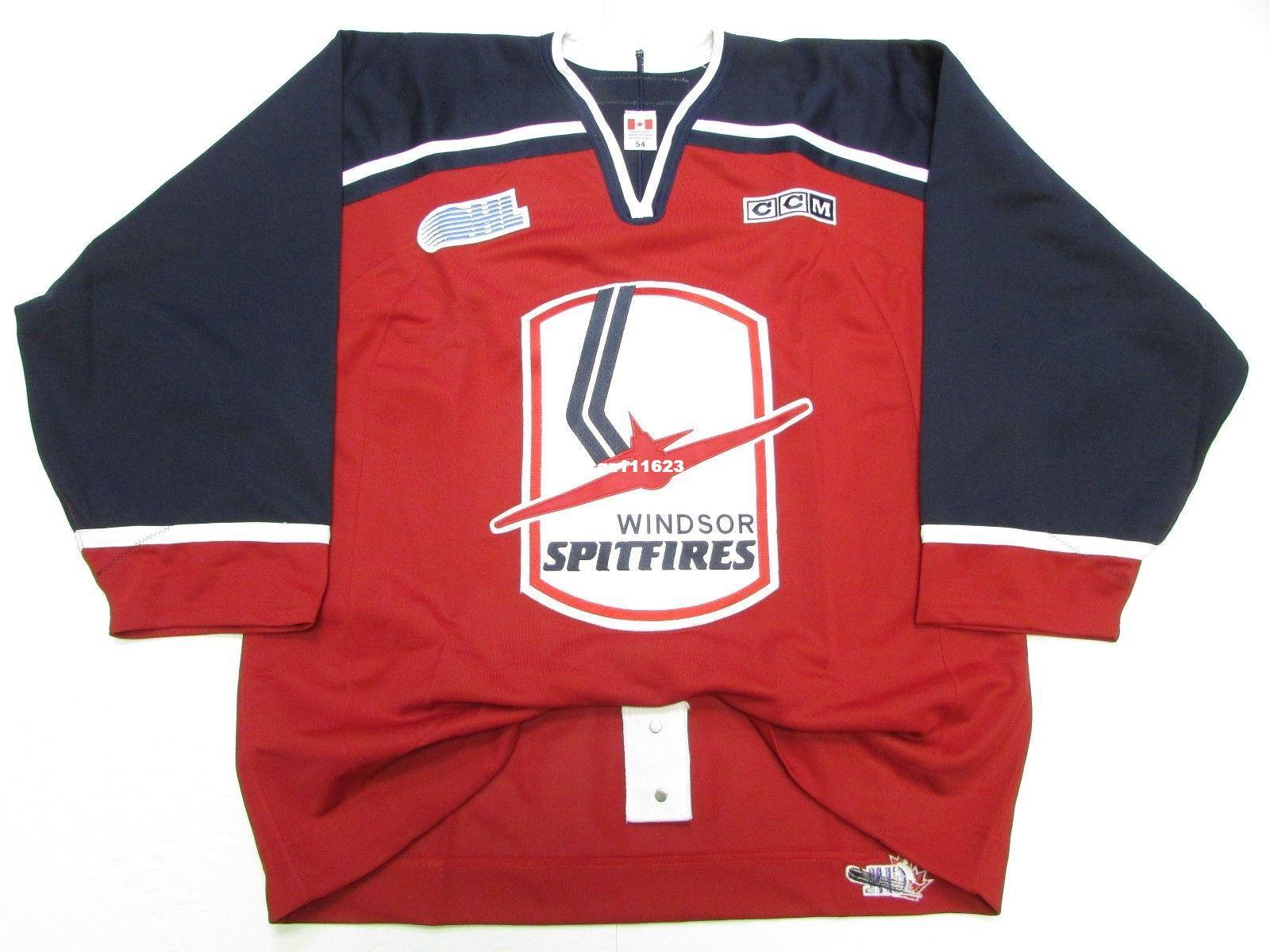 2019 Cheap Custom WINDSOR SPITFIRES AUTHENTIC OHL RED PRO CCM HOCKEY JERSEY  Red Jerseys From Cgz111623 797c7a38b