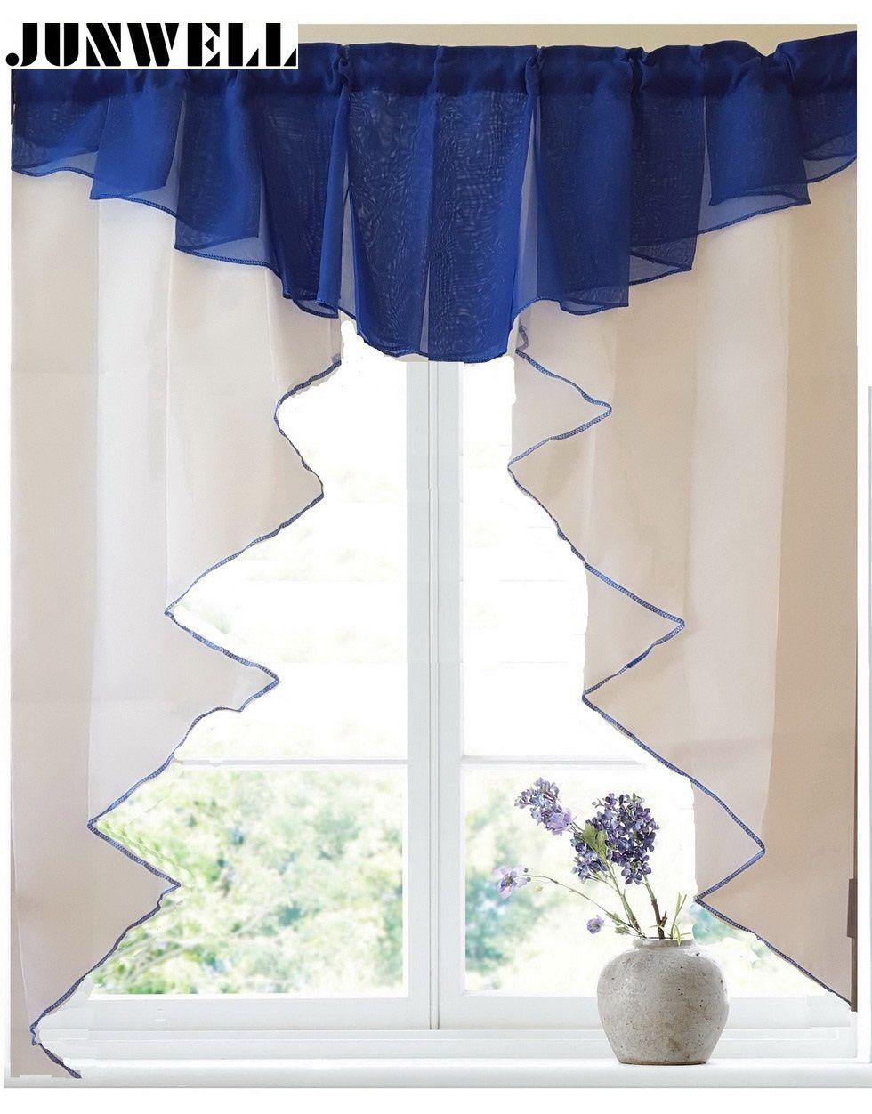 Compre es Moda Plisada Cortina Romana Diseño Costura Colores Tulle ...