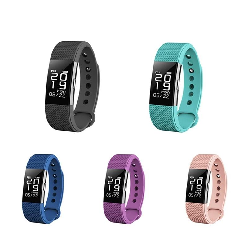 F2 Smart Bracciale Pedometro Monitor della frequenza cardiaca Monitor del sonno Smart Band Whatsapp Notifica Facebook Impermeabile Wristband sportivo