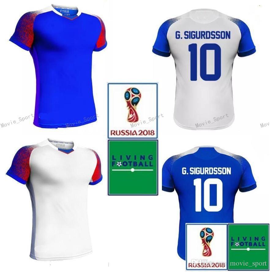 3d5f3b58bb5 ... czech iceland soccer jersey 2018 world cup gudmundsson sigurdsson  sigthorsson g.sigurdsson traustason finnbogason ingason