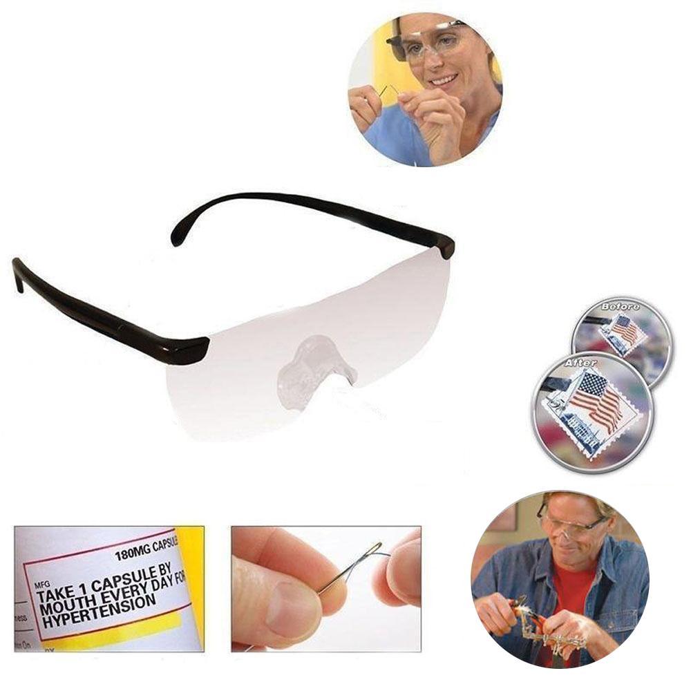 c06372496a561 Compre Vehemo Fashion Big Vision 160% Anteojos De Lectura Magnifica Lente  De Aumento De Visión Presbyopia Eyewear 1.6 Veces A  24.49 Del Knite07