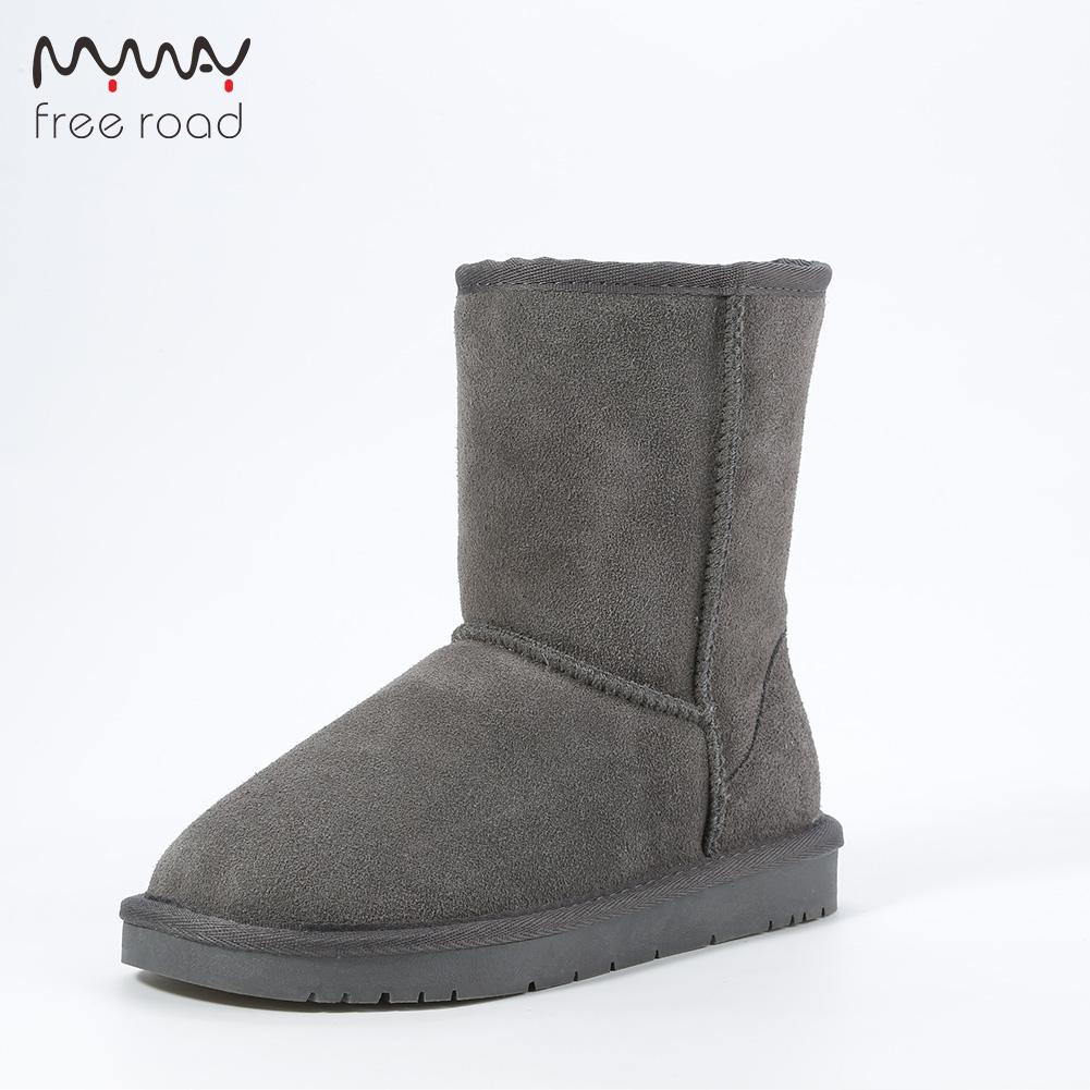 Men Snow Boots Cow Suede Leather No Slip Warm Winter Shoes For Men High  Quality Mid Calf Boots Brown Ankle Boots Fly Boots From Showway 413eeb7f7d91