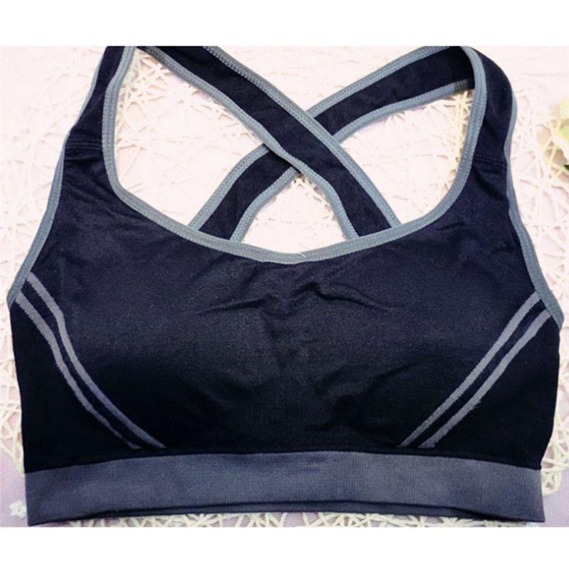 reggiseno sportivo fitness imbottito reggiseno sportivo compressione top Sportswear Quick dry elastico crop top sexy top running yoga reggiseno signore DH091