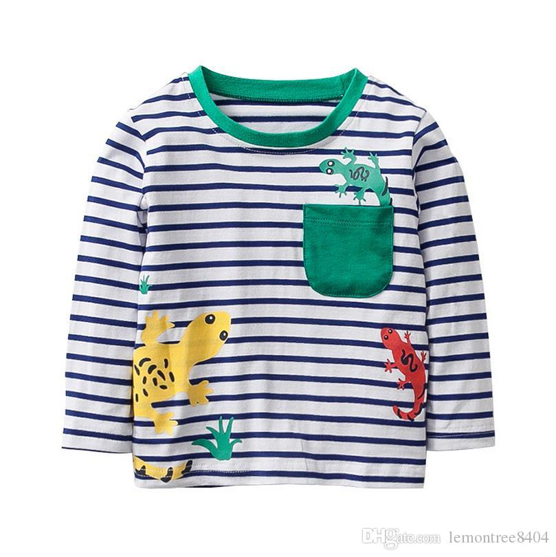 fc56fb2b 2019 2018 Design Toddler Boys Kids Clothing Striped T Shirts For Boys T  Shirt Kids 100% Cotton Full Sleeve For Sping Fall Children Clothing From ...