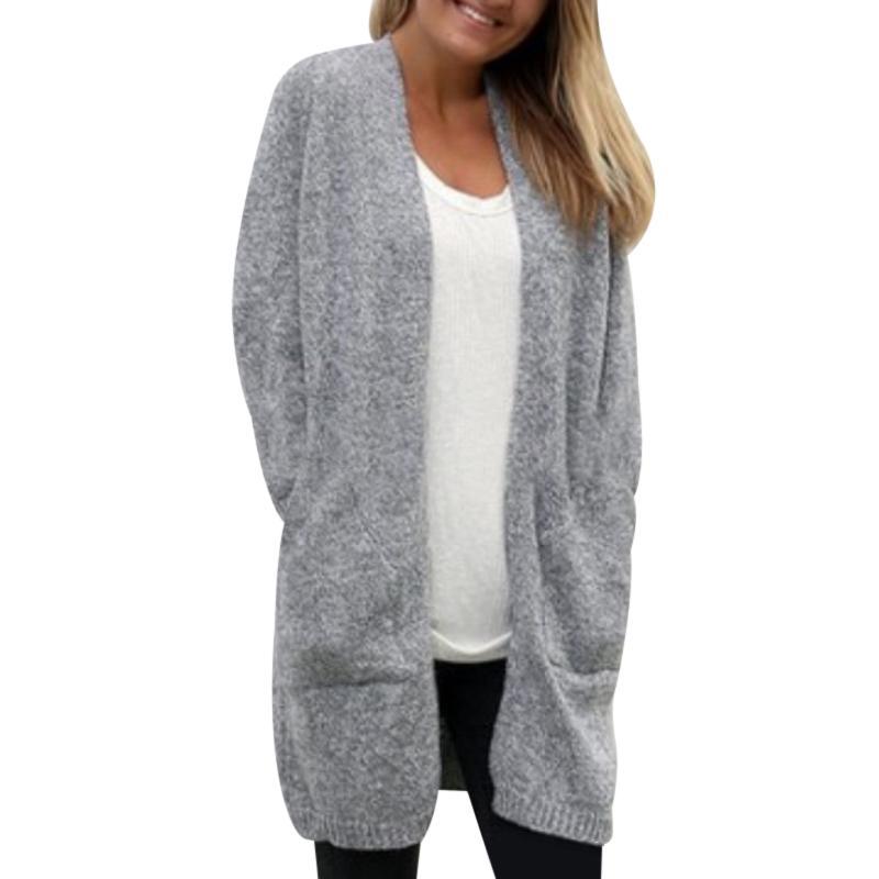 e9b85694223405 2019 Winter Women Long Knitted Cardigan Jackets Coats Slouchy Outwear  Female Loose Sweater Coat Wool Pockets Open Stitch Oversized From  Berniceone, ...