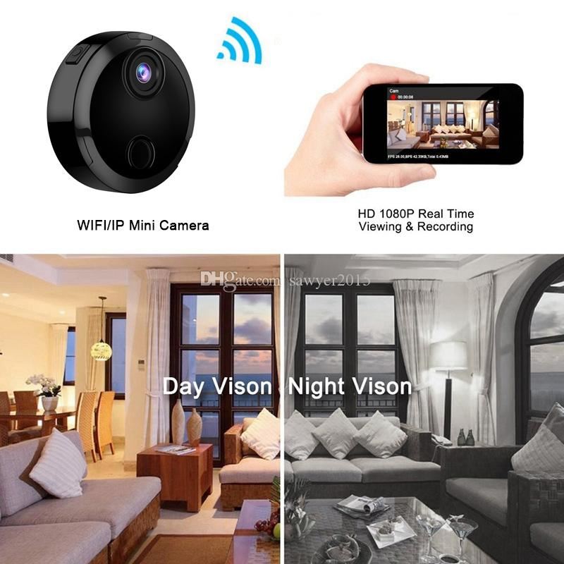 Mini Wifi Camera HD 1080P Micro IP Network Camcorder 12 Infrared Night Vision Motion Sensor Charge While Recording Car Sport DV