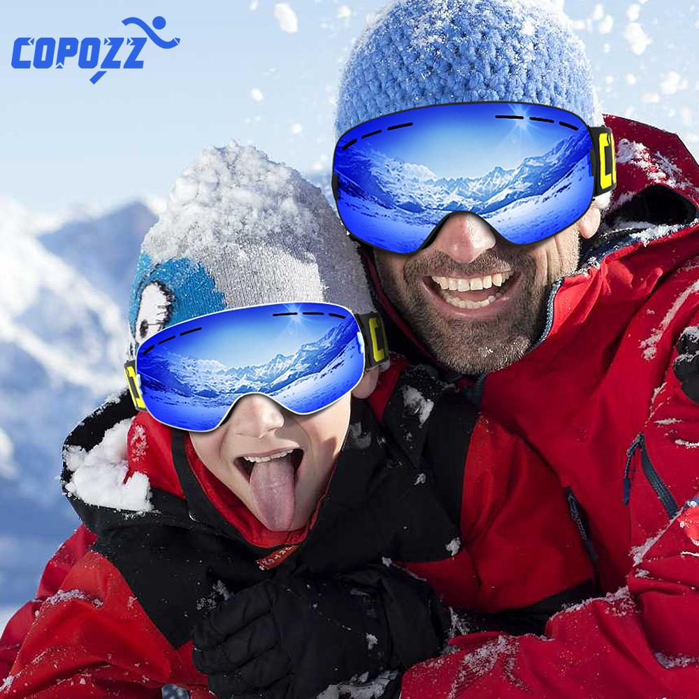 5e03f841f0d COPOZZ Parent Child Ski Goggles 2 Pack Set Snowboard Anti Fog Skiing ...