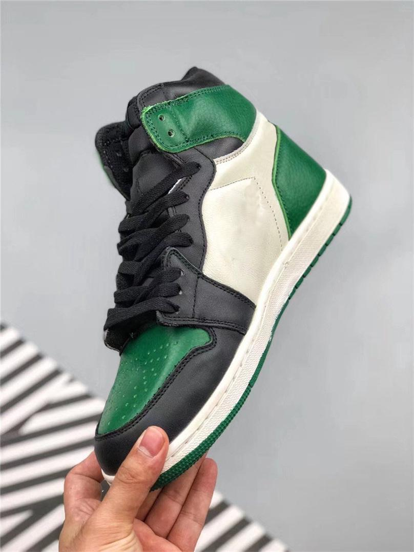 bf14a5f37f49 2019 2018 1 High OG Pine Green Court Purple 1S Basketball Shoes For Men  Authentic Quality Man 555088 302 Outdoor Sports Sneakers With Box From  Freedomfly
