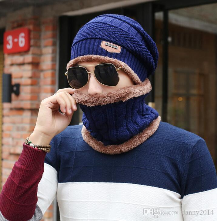 Mens winter warm sports hat crochet fleece beanies outdoor cycling hiking mask neck scarf warmer wool Balaclava ski hood hiphop beanie