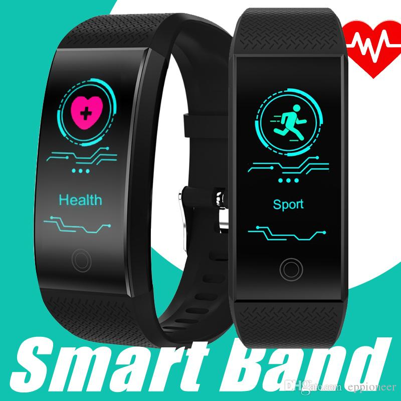 bdc14039def1e Brazalete Para Celular QW18 Pulsera Inteligente Pulsera Deportiva Inteligente  Fitness Sleep Tracker IP68 Pulso Reloj Smartband Al Aire Libre Pk Fitbit  Apple ...