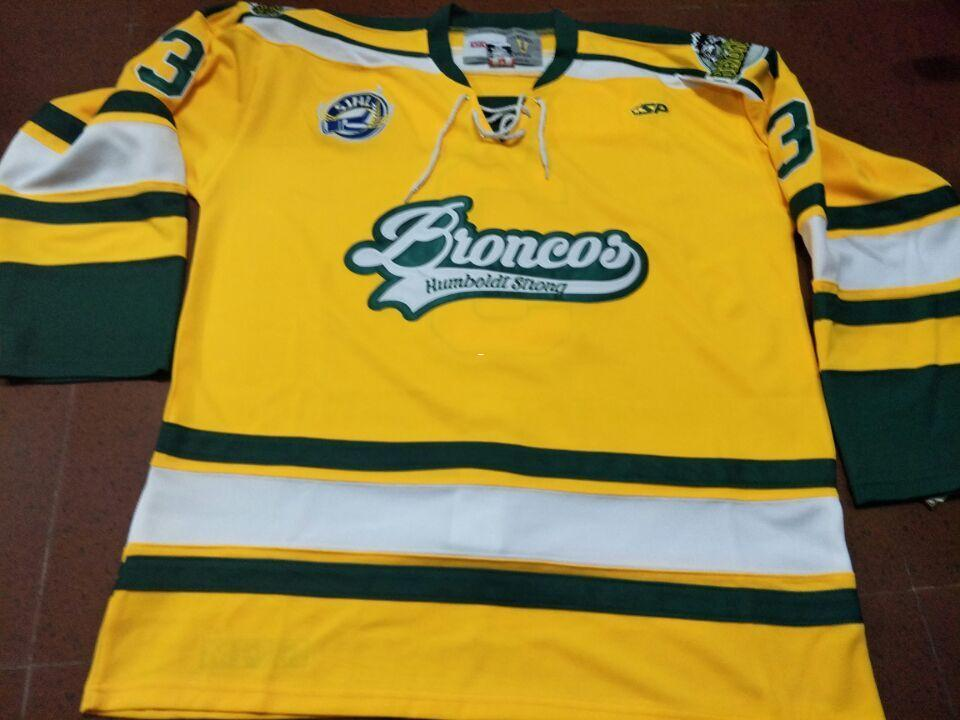 2019 Men  3 Humboldt Broncos LABELLE HOCKEY REAL JERSEY Or Custom Any Name  Or Number Retro Jersey From Love3740 4ff26be3fbd5
