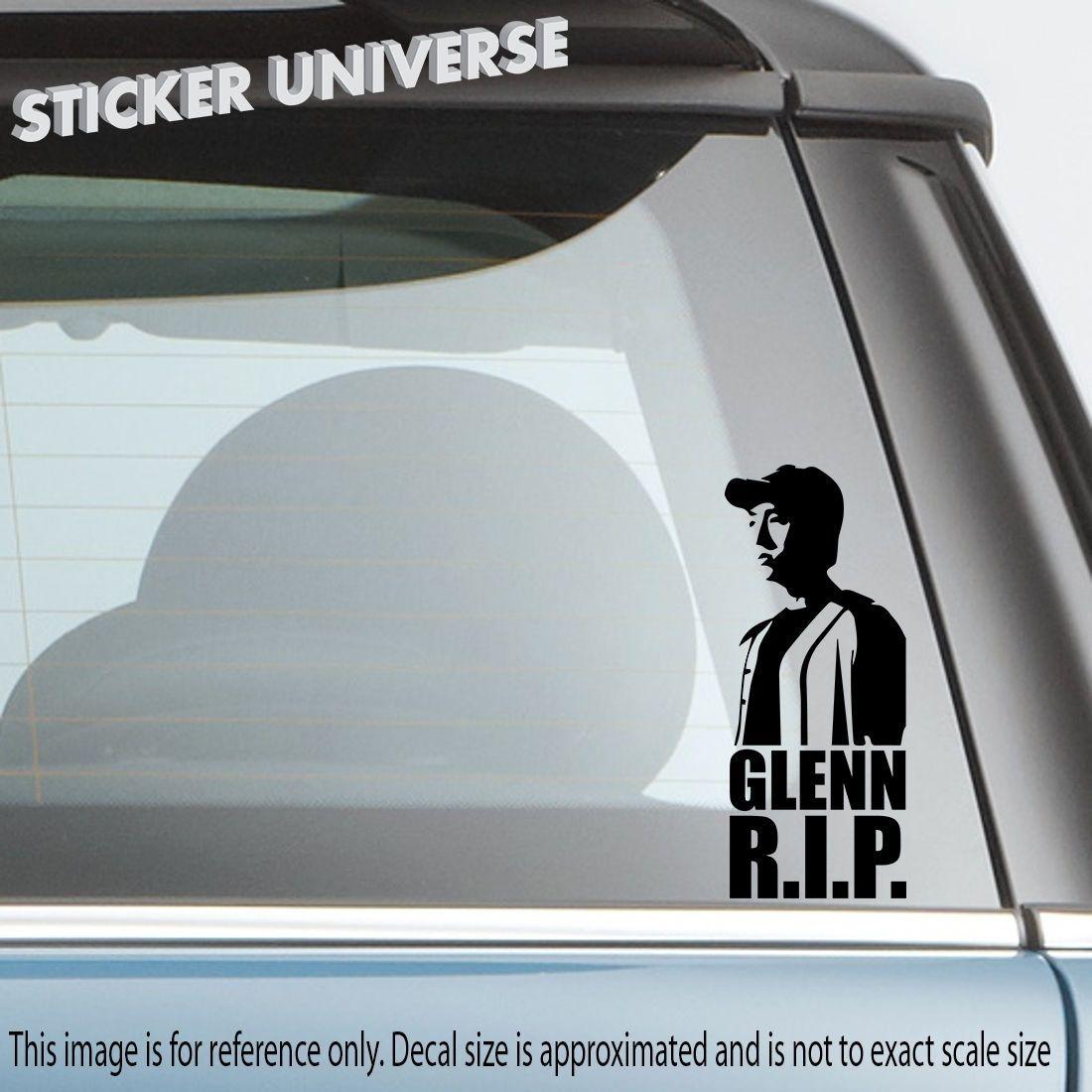 Car styling for r i p glenn silhouette die cut decal bumper sticker 2 5x6 rip walking dead
