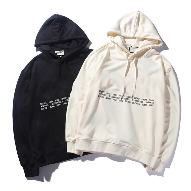 d4e581ea76f 2019 2018 Aut Hoodies Luxury Brand Men Hoodie Couple Pullover Hoodie Long  Sleeve Hoodies Sweatshirt Hiphop Rainbow Sweatshirt City Name From My life