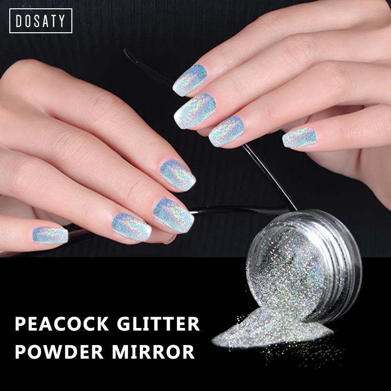 Docaty Nail Art Design 2018 Nail Art Glitter Powder Mirror Polishing