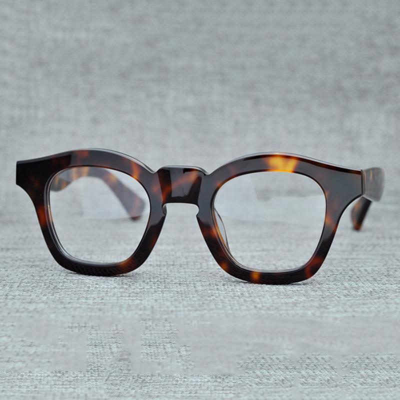95ccbd85a1e39 Compre Cubojue Acetato Óculos Homens Mulheres Vintage Grosso Armações De  Óculos Homem Prescrição Preto Tortoise Óculos De Miopia Dioptria Masculino  De ...