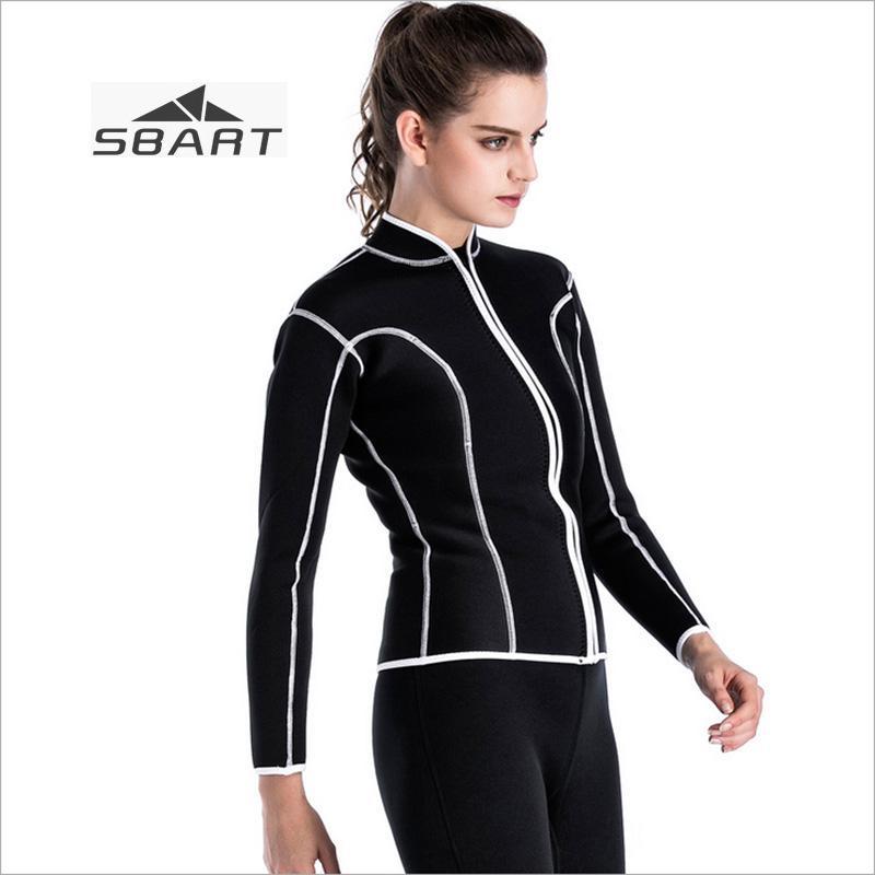 10cc0ad162 2019 SBART 2mm Neoprene Winter Warm Women Wetsuit Tops Black Snorkel Jacket Surfing  Diving Scuba Dive Jacket Sunscreen Swimwear From Yymq0404
