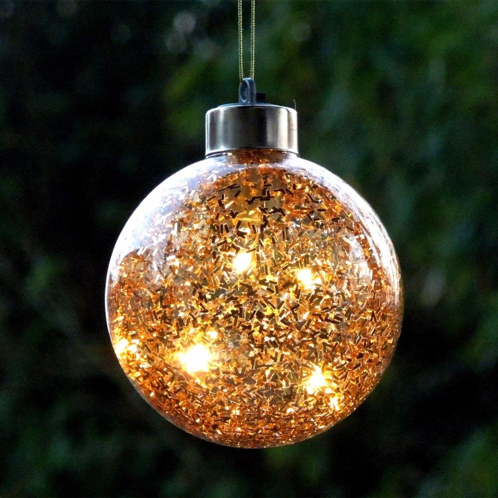 diameter10cm gold lighting glass christmas ball silver glass globe christmas tree decorations mall holiday party window props christmas decoration - Glass Christmas Decorations