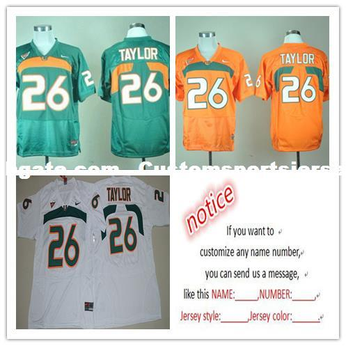 new product 08246 75101 Cheap custom NEW 2017 Miami Hurricanes #26 Sean Taylor College Football  Jersey Customized Any name number Stitched Jersey XS-5XL