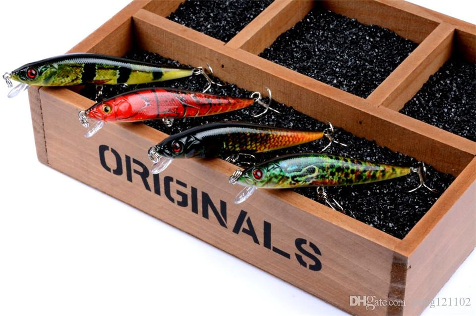 Hot-selling Fishing Baits 10cm/10g 3D Laser Minnow Fishing Lures Fishing Tackle