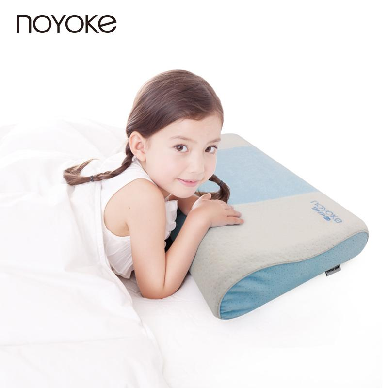 NOYOKE 50*30*9-7 cm Safe Natural Latex Pillow for 6-14 Year-old Teens Student Children Cartoon Natural Latex Pillow