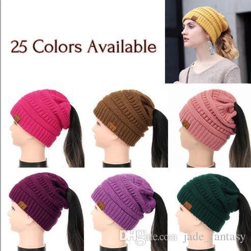 Großhandel Frauen Cc Pferdeschwanz Hüte 25 Farben Cc Pferdeschwanz
