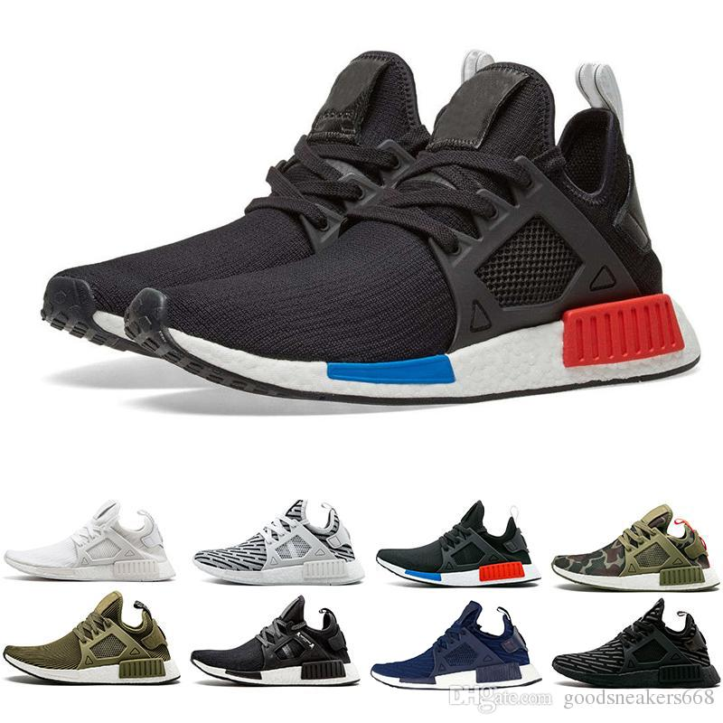 new product af958 693b0 Running shoes sneaker XR1 triple Black grey white blue green dark new color  2018 Primeknit new fashion Casual Sports Sneakers SIZE 36-45