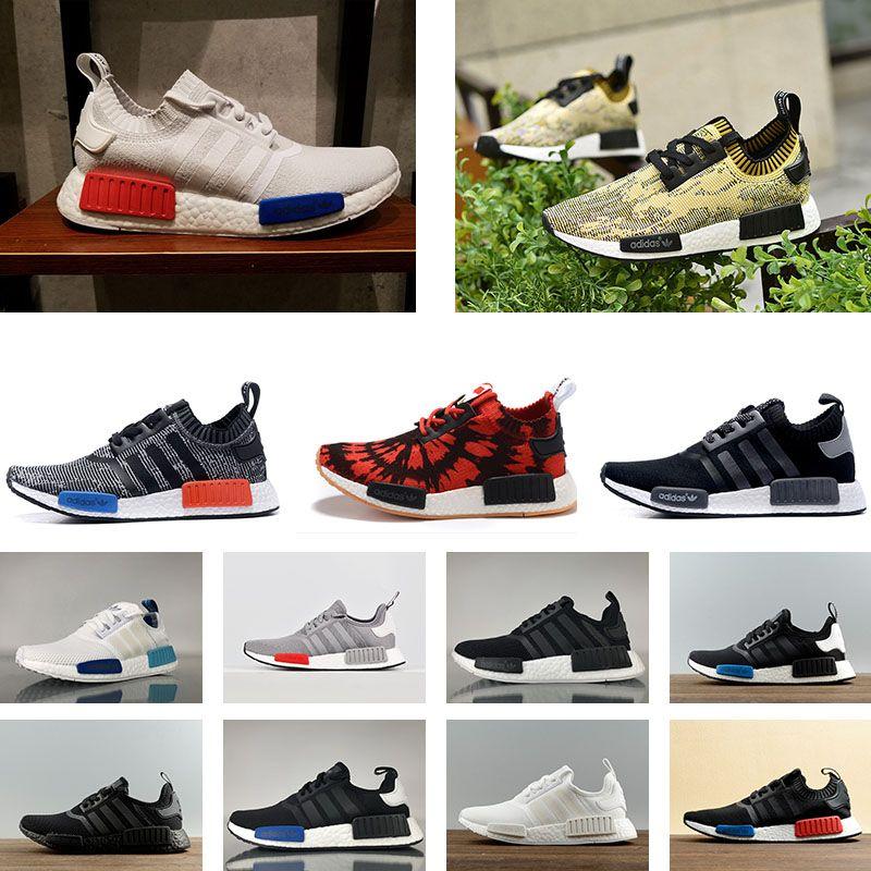 online store 9418b 42d9c Acheter 2018 Adidas Originaux NMD R1 PK STLT W NMD R2 Classique Sneakers NMD  R1 R2 Primeknit Parfait Meilleur Qualité Sneakers Mode Chaussures De Course  ...